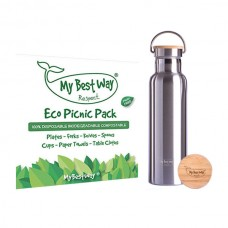 Stainless Steel Thermos + Eco Picnic Pack